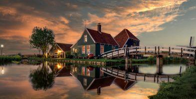 Фото бесплатно природа, Нидерланды, канал