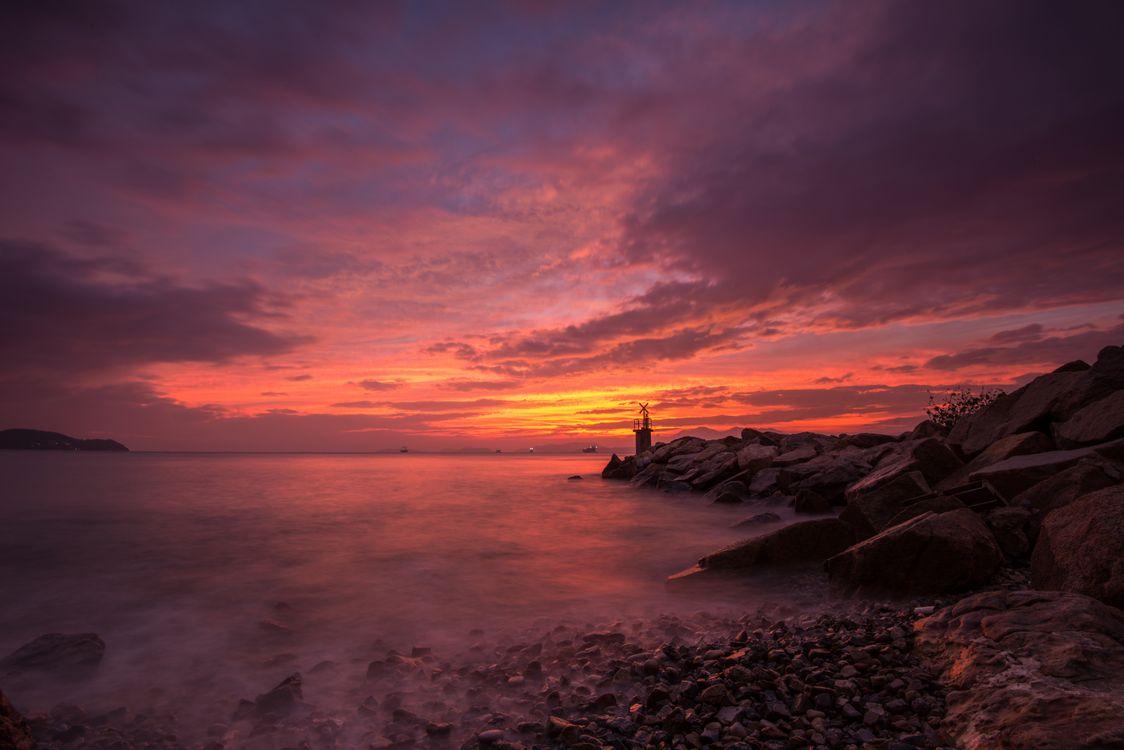 Фото бесплатно море, пейзаж, мояк - на рабочий стол