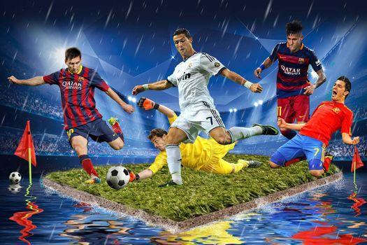 Бесплатные фото футбол,футболисты,поле,мяч,art