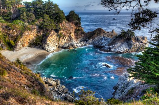 Photo free McWay Falls, Julia Pfeiffer Burns State Park, McWay Cove Beach