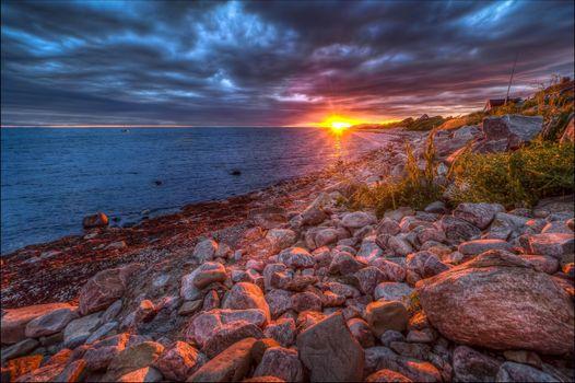 Фото бесплатно Nyhamnslaege, Швеция, закат