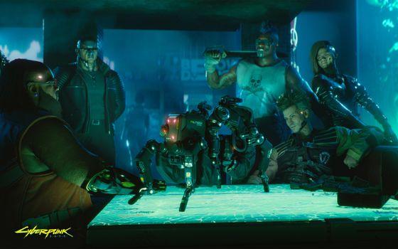 Фото бесплатно люди, наука, cyberpunk 2077