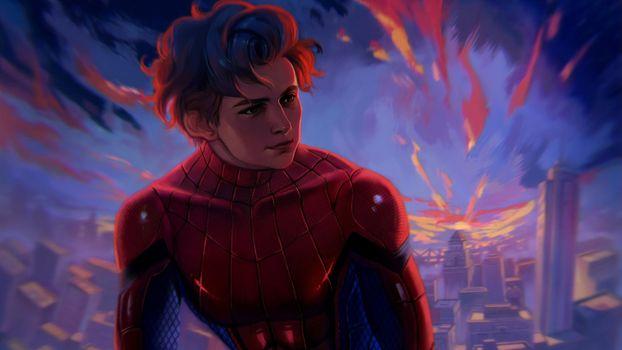 Фото бесплатно Spiderman Homecoming, Spiderman, супергерои