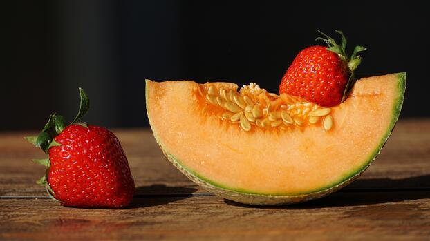 Photo free strawberry, fruits, piece