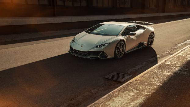 Photo free Lamborghini Huracan Evo, silvery, Lamborghini Huracan