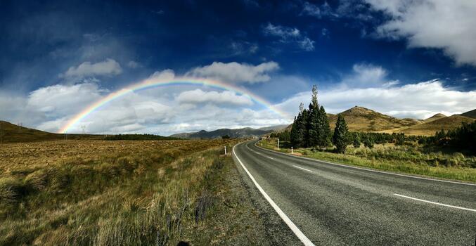 Фото бесплатно сельская дорога, синее небо, сельская местность