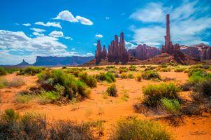 Фото бесплатно природа, природа сша, скалывание облаков