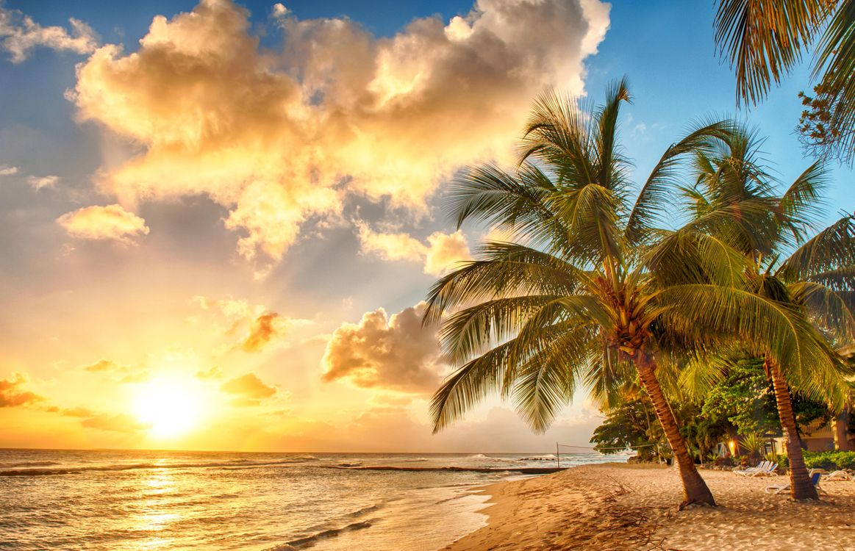 Фото бесплатно тропики, море, пляж, закат, природа