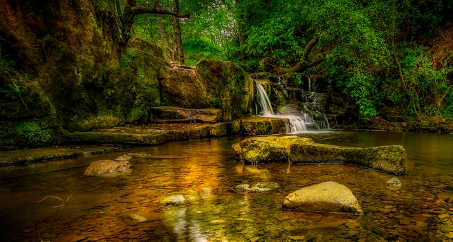 Photo free forest, beautiful, waterfall