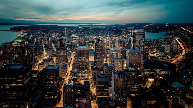 Фото бесплатно современная архитектура, рассвет, городской пейзаж
