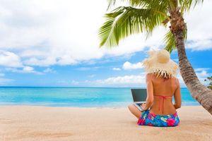 Бесплатные фото тропики,море,пляж,девушка