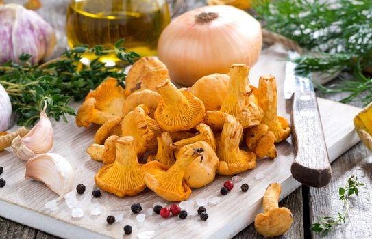 Фото бесплатно грибы, лук, чеснок