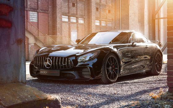 Photo free supercar, mercedes amg gt r, black
