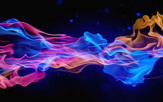 Разноцветные линии и темный морской фон · бесплатное фото