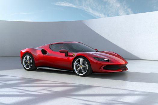 Photo free car, Ferrari, red