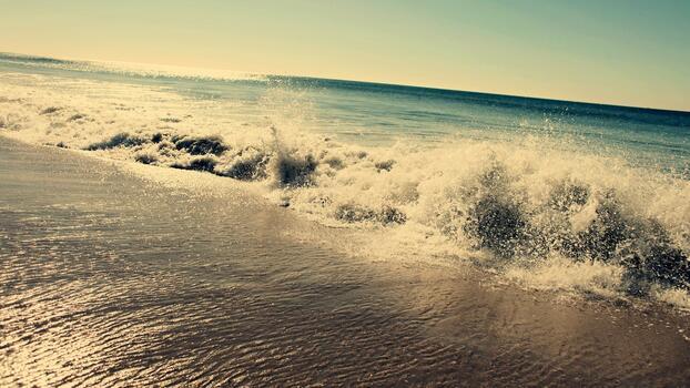 Фото бесплатно пляж, отражение, ветровая волна