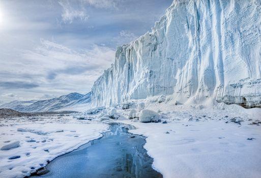 Photo free Antarctica, Glacier, Sky