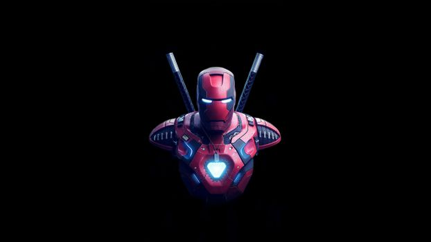 Photo free Iron Man, Deadpool, artwork