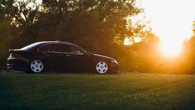 Фото бесплатно солнечный свет, ночь, автомобиль