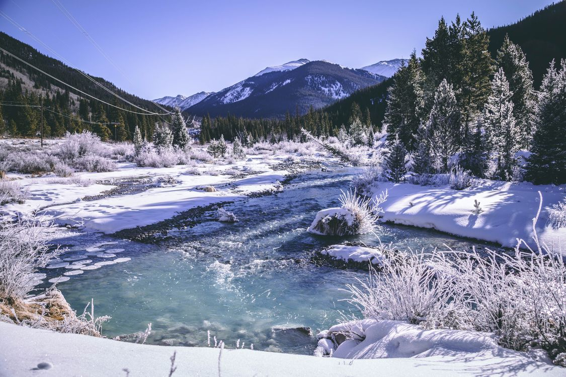 Photos for free mountains, winter, snow - to the desktop