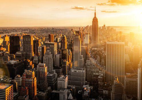 Фото бесплатно Нью-Йорк, Манхэттен, небоскребы