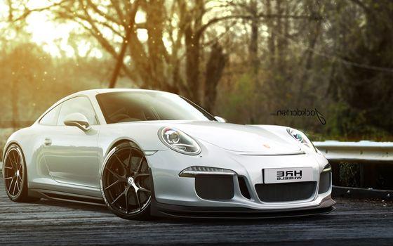 Photo free Porsche, white, discs