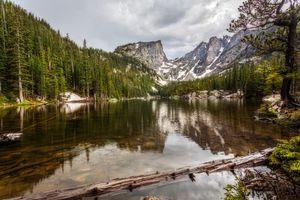 Бесплатные фото Rocky Mountain National Park, Colorado, озеро, горы, деревья, пейзаж