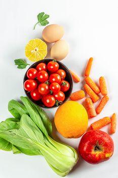 Заставки еда, яйцо, морковь