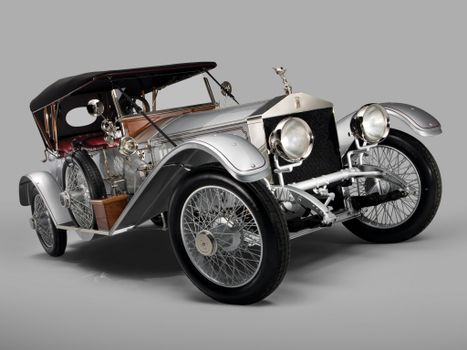 Photo free rolls royce silver ghost, front view, cars