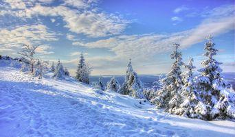 Фото бесплатно холм, небо, горные вершины