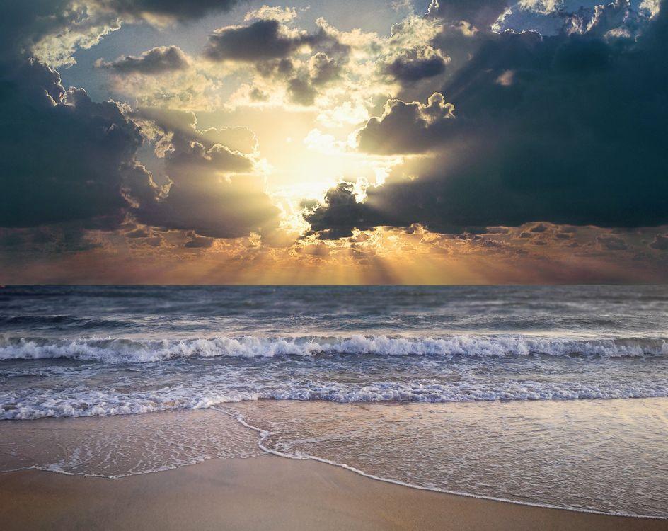 Фото бесплатно пляж, пейзаж, облака - на рабочий стол