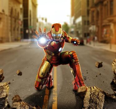 Photo free Avengers, Iron Man, nanosuit