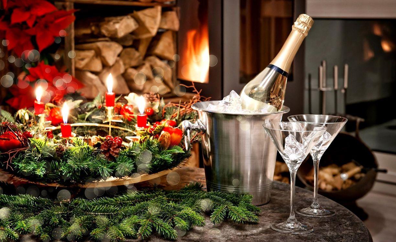 Фото бесплатно новый год, праздник, шампанское - на рабочий стол