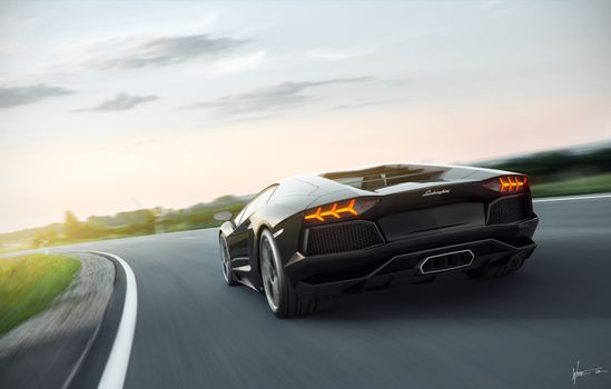 Photo free Lamborghini, cars, rear end