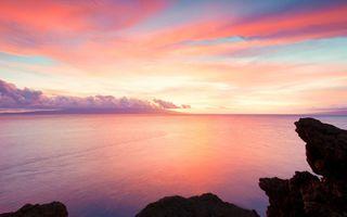 Фото бесплатно красное небо утром, утро, пейзажи