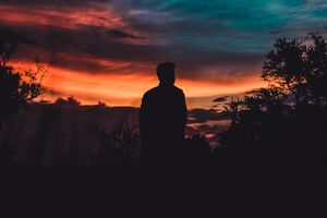 Photo free silhouette, man, sky