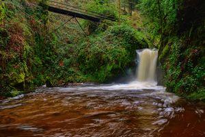 Фото бесплатно природа, мост, водопад