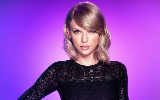 Photo free Taylor Swift, face portrait, black dress