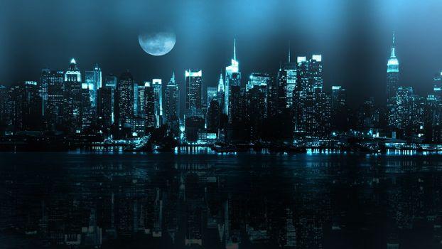 Фото бесплатно цифровое искусство, монохромный, город