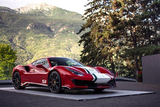 Photo free Ferrari 488, 2018 cars, cars