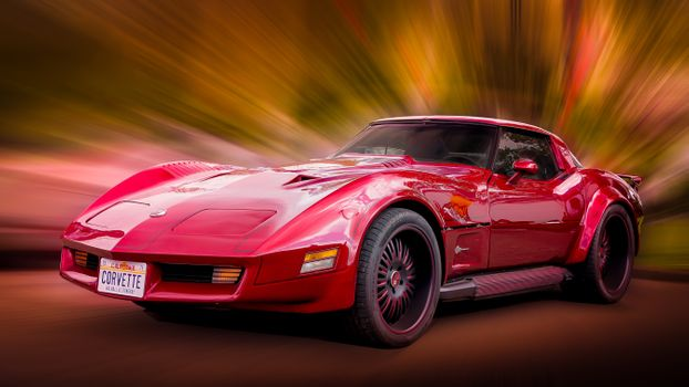 Photo free Valhalla Corvette Stingray, car, machine
