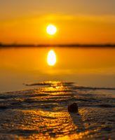 Заставки пейзаж,оболочка,закат солнца,солнце,горизонт,море,Восход