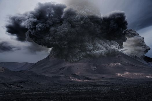 Photo free volcano, ash, explosion
