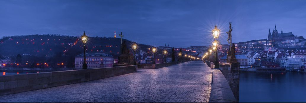 Фото бесплатно панорама, Czech Republic, ночь