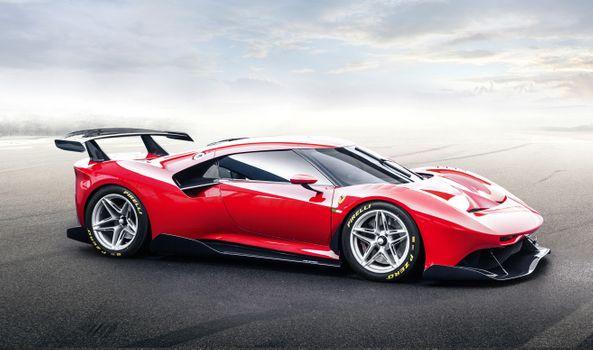 Photo free Ferrari П80С, red, hypercar