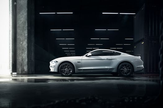 Photo free Ford Mustang, silvery, coupe