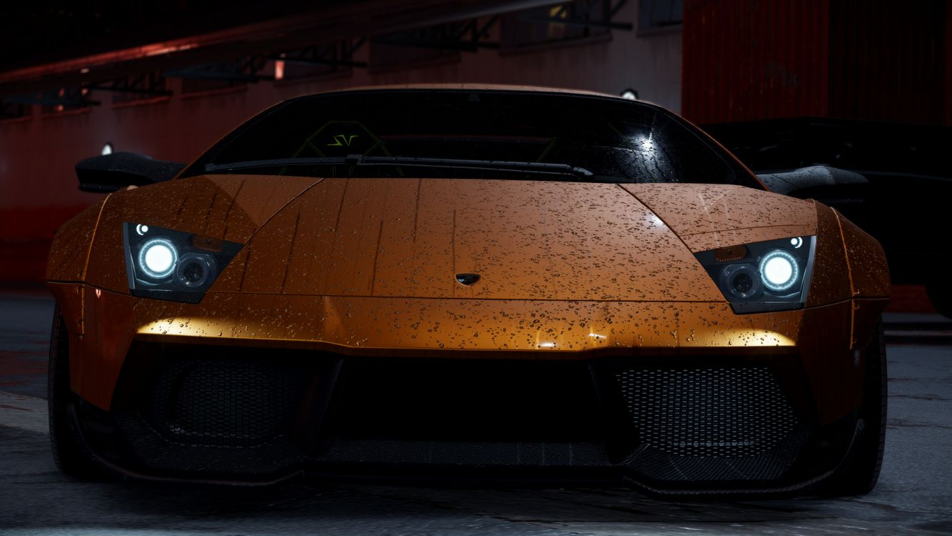 Photos for free need for speed, the color orange, lamborghini - to the desktop