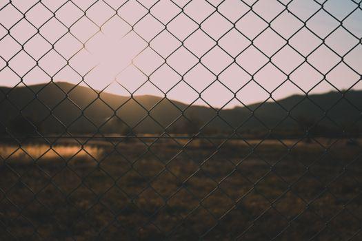 Обои забор,сетка,размытость,природа,fence,mesh,blur,nature