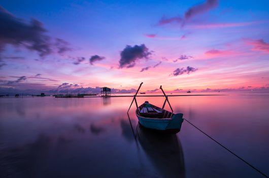 Photo free sunset, ocean, travel
