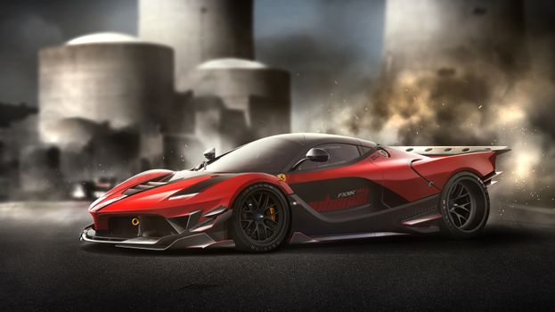Фото бесплатно автомобили, Ferrari, Behance